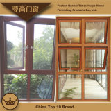 Fenêtre coulissante en aluminium avec couleur en bois