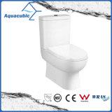 Tocador de cerámica del armario de dos piezas del baldeo del cuarto de baño (AT2301)