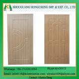 Pelle del portello modellata laminato di legno dell'impiallacciatura HDF di colorazione