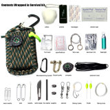 Kit de supervivencia Emergency al aire libre modificado para requisitos particulares del desastre de Paracord de los primeros auxilios