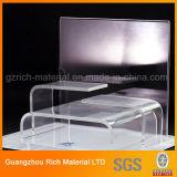 Présentoir de dépliement acrylique clair/support de plexiglass/crémaillère/étalage en plastique Acrlyic de produit