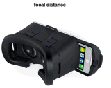 Cartón promocional virtual Realityvr Smartphone de cristal 3D con la manija de Bluetooth