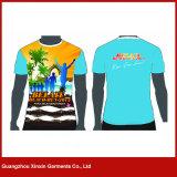 Vente en gros Poleyster 100% dans toute l'usine de T-shirt d'impression de sublimation (P142)