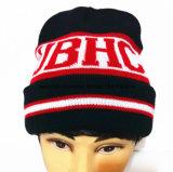 La piste a brodé le chapeau/chapeau tricoté de Beanie de chapeau
