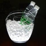 Benna di ghiaccio illuminata forma di v trasparente popolare del vino 8L