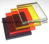 Feuille acrylique rouge transparente résistante de la publicité extérieure de temps