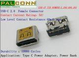 Tipo connettore 5A 20V di SMT USB2.0 di C, USB-Se Vid no.: 5510