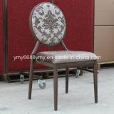 Chaise en aluminium de banquet de vente de bois de construction d'effets chauds de grain
