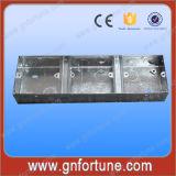 Doubles boîtes de sortie métalliques électriques de la troupe 3*6 deux