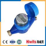Contador del agua plástico de la dial mojada multi del jet