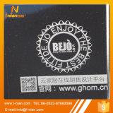 Etiquetas engomadas transparentes de encargo de la insignia de la marca