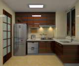 Hotel Project (브롬 U017)를 위한 UV High Glossy Modern Kitchen Cabinet