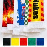 Изготовленный на заказ облегченный шарф футбола печатание полиэфира