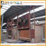 La estructura del proyecto del horno de túnel de la despedida del ladrillo de la arcilla de la más nueva tecnología con el sitio de sequía del compartimiento del ladrillo