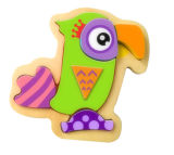Brinquedo de madeira do enigma do papagaio para miúdos e crianças