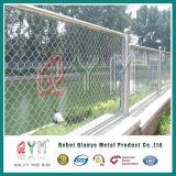 PVC에 의하여 입히는 철 철망사 체인 연결 담 임시 담 체인 연결
