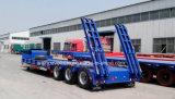 반 3개의 차축 13000mm*3000mm*1500mm의 크기를 가진 낮은 침대 트럭 트레일러