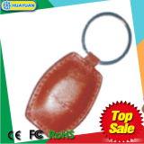 HUAYUAN MIFARE 1K clássico RFID Keychain de couro