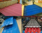 Hojas coloridas del material para techos