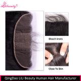 Fechamento baixo de seda humano por atacado do cabelo 13X4 do Virgin