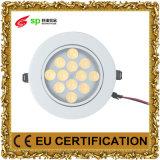 Lámpara 12W AC85-265V de la iluminación de la luz de techo del LED