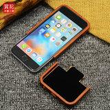 Caixa de madeira de cinzeladura feita sob encomenda do telefone dos testes padrões para a tampa 6s móvel do iPhone 6