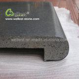 Bester Preis zog graue Oberflächenfarben-das Bullnose Rand-Lava-Stein-Pool-Fertig werden ab