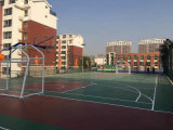 屋外PVCの新しい材料はバスケットボール、スポーツの運動場を追跡するテニスのためのフロアーリングを遊ばす
