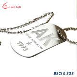 Runde Form-Emaille-preiswerte Hundeplakette-Halskette
