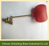 Taladro rojo tubo de latón válvula de flotador, tanque de agua la válvula de flotador