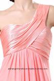 La dama de honor viste una alineada de partido Chiffon del baile de fin de curso del hombro de las mujeres