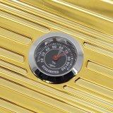 Lubinski Gold-ABS geformter Plastikshell-Goldzigarre-Arbeitsweg-Luftfeuchtigkeitsregler-Halter-Kasten (ES-EB-028)