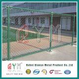 Acoplamiento cubierto PVC de los paneles/casero y del jardín de la cerca de la conexión de cadena del diamante