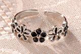 Migliore anello rotondo sterlina d'argento di vendita 925 eleganti