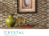 Мозаика украшения стены золота предупреждает цвет сделанный стеклом листового золота (GF303)
