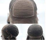 Peluca llena del cordón superior de seda del pelo brasileño de la Virgen