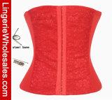 여자의 레이스 허리 훈련 강철에 의하여 뼈를 발라내는 Shapewear 코르셋