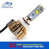 Bulbo do farol do diodo emissor de luz do carro da lâmpada G3 30With3200lm 9005 do jogo da conversão do farol 6000k do diodo emissor de luz do carro com 18 meses de garantia