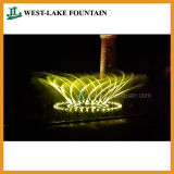 Großer musikalischer bunter Beleuchtung-Tanzen-Brunnen im Freizeitpark