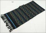 人のレディース男女兼用の可逆カシミヤ織の感じの冬の暖かい点検されたダイヤモンドの印刷の厚く編まれた編まれたスカーフ(SP818)