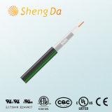 Schwarzes mit grüner Zeile Rg59 Tri-Shield/Rg59coaxial Kabel mit bestem Preis