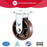 Platten-Hochtemperaturfußrolle mit Bremse