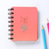 カスタムペーパーバック/螺線形のペーパー学校のノート、日記の印刷