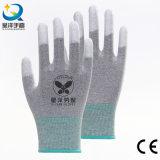 L'unité centrale d'extrémité de doigt d'unité centrale a enduit les gants de travail de sûreté (PU011)