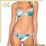 China-Hersteller-kundenspezifische Badebekleidungs-zweiteiliger reizvoller Dame-Bikini