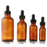 2 Fles van het Glas van de Essentiële Olie van oz de Amber met het Zwarte Druppelbuisje van het Glas