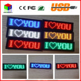 48X12 Dots LED rouge SMD Sign Scrolling Message texte / Nom Conseil Carte Tag Display Advertising Rechargeable programmable