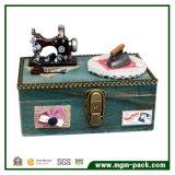 Di Music Box di legno creativo con il cucito e la macchina del ferro