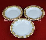 金の印刷のAgdeのスープ皿が付いている高貴なスパンの罰金の磁器の陶磁器テーブルウェア