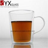 耐熱性ホウケイ酸塩の倍の壁のガラスコップまたは飲むガラスの茶コーヒーエスプレッソジュースのミルクのマグ